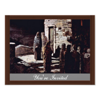 Christ And His Disciples Enter The Garden Of Geths 4.25x5.5 Paper Invitation Card