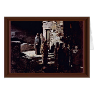 Christ And His Disciples Enter The Garden Of Geths Greeting Card