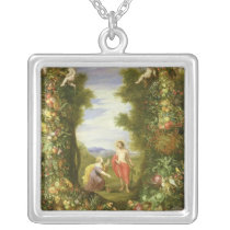 Christ and Mary Magdalene Silver Plated Necklace