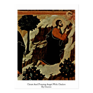 Christ And Praying Angel With Chalice By Duccio Postcard