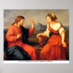 Christ And Samaritan Woman by AngelicaKauffmann Print