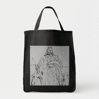 Christ and Sheep Shepherd Tote Bag