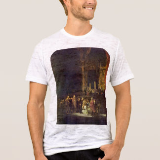 Christ And The Adulteress By Rembrandt Harmensz. T-Shirt