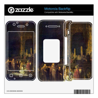 Christ and the Adulteress by Rembrandt Motorola Backflip Skin