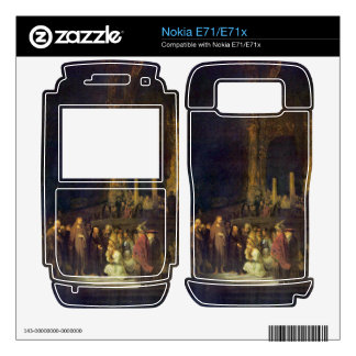Christ and the Adulteress by Rembrandt Decal For Nokia E71