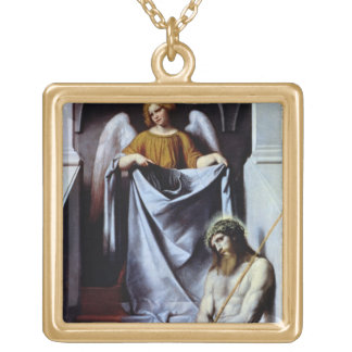 Christ and the Angel, c.1550-54 Square Pendant Necklace