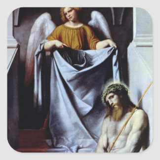 Christ and the Angel c 1550-54 Square Stickers