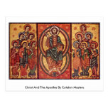 Christ And The Apostles By Catalan Masters Post Card