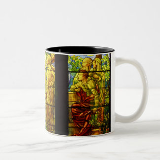 Christ and the Apostles Tiffany Stained Glass Two-Tone Coffee Mug