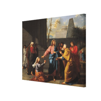 Christ and the Canaanite Woman, 1783-84 Canvas Print