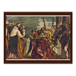 Christ And The Centurion Of Capernaum By Veronese Postcard