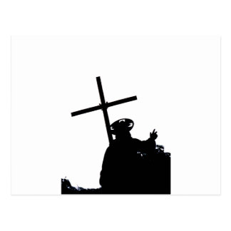 Christ and the cross postcard