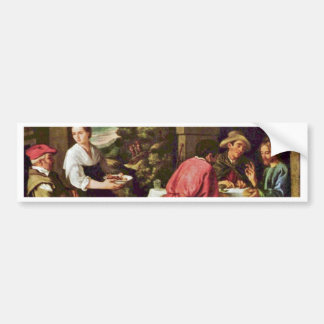 Christ And The Disciples Of Emmaus By Orrente Car Bumper Sticker