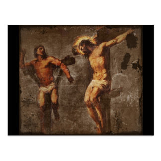 Christ and the Good Thief Postcard