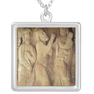 Christ and the Pilgrims of Emmaus Silver Plated Necklace
