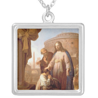 Christ and the Rich Young Ruler, 1640 Silver Plated Necklace