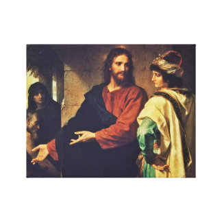 Christ and the Rich Young Ruler. Canvas Print