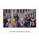 Christ And The Scribes By Paolo Veronese Postcard