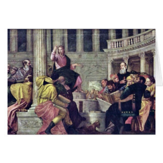 Christ And The Scribes By Veronese Paolo Card