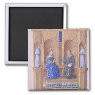 Christ and the Virgin Mary Enthroned 2 Inch Square Magnet