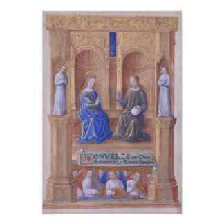 Christ and the Virgin Mary Enthroned Poster