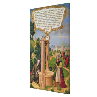 Christ and the Woman from Samaria at Jacob's Well Canvas Print