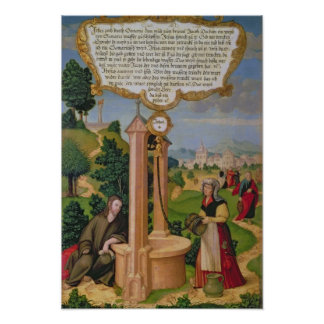 Christ and the Woman from Samaria at Jacob's Well Poster