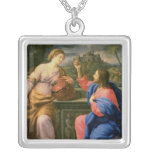 Christ and the Woman from Samaria Pendant