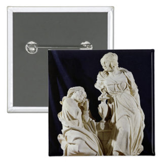 Christ and the Woman of Samaria 2 Inch Square Button