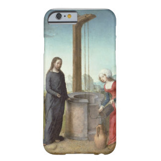 Christ and the Woman of Samaria, c.1500 (oil on pa Barely There iPhone 6 Case