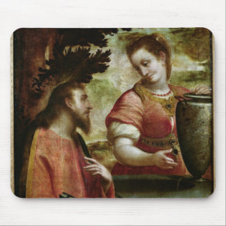 Christ and the Woman of Samaria, c.1575-80 Mouse Pad
