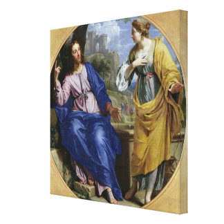 Christ and the Woman of Samaria Canvas Print