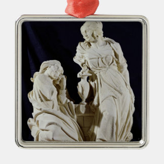 Christ and the Woman of Samaria Metal Ornament