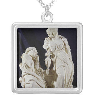 Christ and the Woman of Samaria Silver Plated Necklace