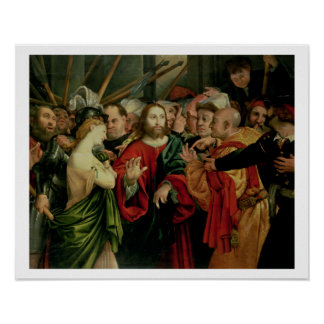 Christ and the Woman Taken in Adultery 2 Print