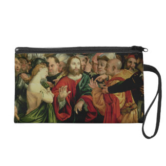 Christ and the Woman Taken in Adultery 2 Wristlet Purse