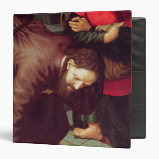 Christ and the woman taken in adultery 3 ring binder