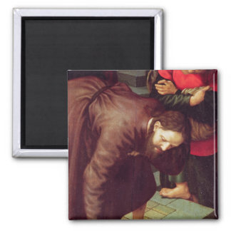 Christ and the woman taken in adultery magnet