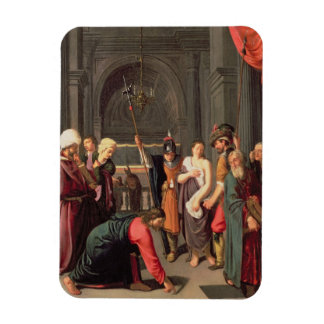 Christ and the Woman Taken in Adultery Rectangular Photo Magnet