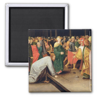 Christ and the women taken in adultery, 1628 2 inch square magnet