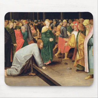 Christ and the women taken in adultery, 1628 mouse pad