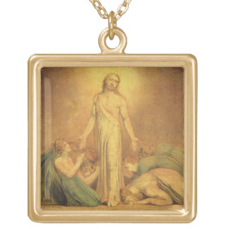 Christ Appearing to the Apostles after the Resurre Square Pendant Necklace