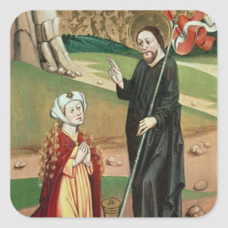 Christ Appears to Mary Magdalene Square Sticker