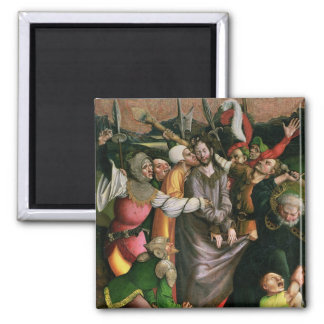 Christ arrested in the Garden of Gethsemane 2 Inch Square Magnet