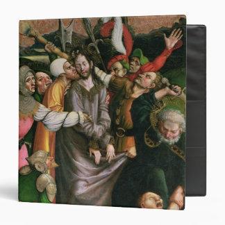 Christ arrested in the Garden of Gethsemane 3 Ring Binder