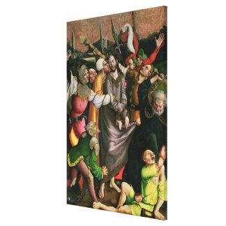 Christ arrested in the Garden of Gethsemane Canvas Print