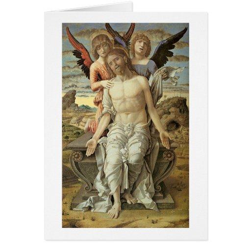 Christ As Man Of Sorrows By Andrea Mantegna Greeting Card