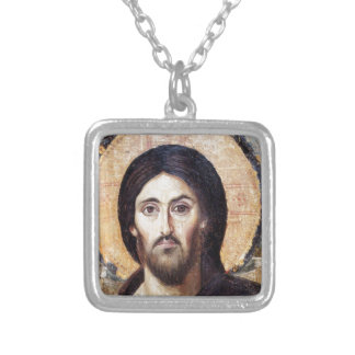 Christ as Ruler of All Square Pendant Necklace