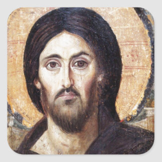 Christ as Ruler of All Square Sticker