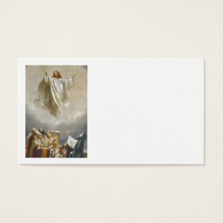 Christ Ascension to Heaven Observed by Apostles Business Card